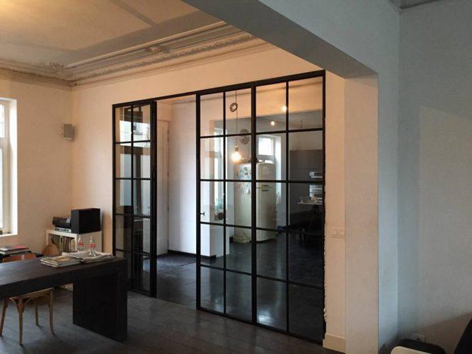Super Stalen wand met deur | Porteplus GZ-89